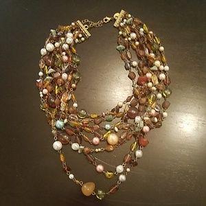Lia Sophia Ensenada beaded necklace